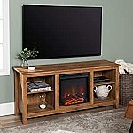 Walker Edison Wren Classic 4 Cubby Fireplace TV Stand $149.99