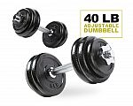 40LB Adjustable Dumbbell Set $50