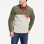 Eddie Bauer Men's Chutes Snap Mock Fleece or Women's Quest Plush Fleece $29.99