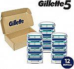 12-Ct Gillette5 Men's Razor Blade Refills $15