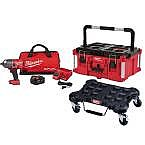 "Milwaukee M18 FUEL 1/2"" Impact Wrench Kit + Tool Box + Dolly $499"