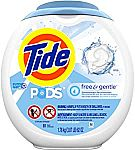 81-Count Tide Pods 3 in 1 HE Turbo Liquid Laundry Detergent Pacs (Multiple Scent) $16