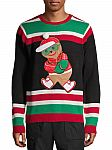 Holiday Time Men's Ugly Christmas Sweater $6