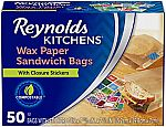 Reynolds Kitchens Sandwich and Snack Wax Paper Bags $2.59