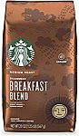 20-oz Starbucks Medium Roast Ground Coffee — Breakfast Blend $7.78