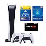 PlayStation 5 Digital Edition Console with PS Plus System Bundle with $20 GameStop Gift Card $600