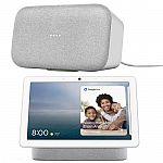 Google Nest Hub Max + Google Home Max Speaker (Chalk) $309
