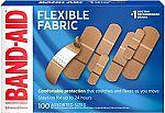 100-ct Band-Aid Brand Flexible Fabric Adhesive Bandages (Assorted Sizes) $5.53