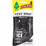 Little Trees 4pk Vent Wrap Black Ice Air Fresheners $2.78