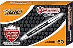 60-Ct BIC PrevaGuard Clic Stic Ballpoint Pen $4.93