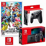 Nintendo Switch Super Smash Bros. Ultimate Bundle $369