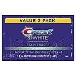2-Pack 3.5oz Crest 3D White Stain Eraser Whitening Toothpaste $3.49