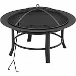 "Mainstays 28"" Fire Pit with PVC Cover and Spark Guard $35"