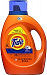 Tide Liquid Laundry Detergent Soap HE (64 Loads) $8.97