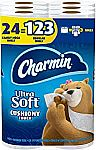 24-Ct Charmin Family Mega Toilet Paper Rolls (Ultra Soft or Ultra Strong) $25.38
