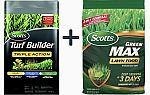 20-lb Scotts Turf Builder + 16-lb  All-Purpose Lawn Fertilizer $27.48