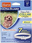 Hartz UltraGuard Flea & Tick Collar for Dogs and Puppies $2.40 & More
