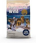 28lb Taste of the Wild Dry Dog Food With Roasted Fowl $25 or $17