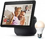 Amazon Echo Show 10 HD Smart Display  (3rd Gen) + Ring A19 Bulb $199.99