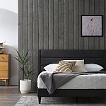Brookside Sara Triple Line Charcoal Queen Upholstered Bed $102 (50% off) and more