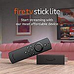 Amazon Prime Members: Fire TV Stick Lite $19.99