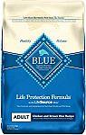 Blue Buffalo Life Protection Formula Natural Adult Dry Dog Food 30-lbs $32 and more