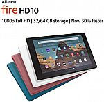 "All-New Fire HD 10 Tablet (10.1"" FHD, 32 GB) + Kindle Unlimited $61.50"