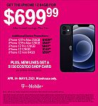 Costco T-Mobile iPhone 12 64GB $699.99, and more