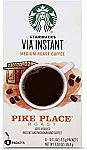 8-count Starbucks VIA Instant Coffee Packets $4.13