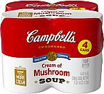 4-Count 10.5-Oz Campbell's Cream of Mushroom Soup $3.01