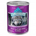12-case Blue Buffalo Beef & Chicken Grill Adult Wet Dog Food, 12.5 oz $11.64