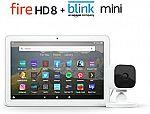 Fire HD 8 Tablet 32 GB + Blink Mini Camera $75 (40% Off)
