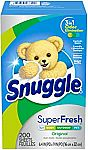 200 Ct Snuggle Plus SuperFresh Fabric Softener Dryer Sheets Original $5.79 and more