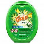 96-Count Gain Flings! Laundry Detergent Pacs (Original) $14