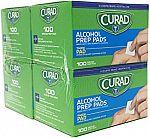 (Back) 400-Ct Curad Alcohol Prep Pads (Medium) $4.50