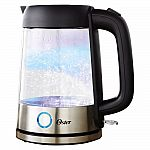 Oster 1.7L Illuminating Glass Kettle with LED Indicator and Auto Shut Off $26 + Free Shipping