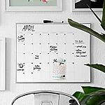 """U Brands Magnetic Monthly Calendar Dry Erase Board, 16"""" x 20"""" $13 and more"""