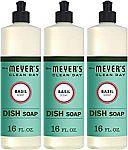 3-Count 16-Oz Mrs. Meyer's Liquid Dish Soap (Basil) $7.65