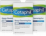 3-Ct Cetaphil Deep Cleansing Face & Body Bar $7