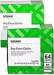 64-count Solimo Dry Floor Sweeping Cloths $7.44
