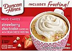4-Ct Duncan Hines Mug Cakes Strawberry Shortcake Flavored Mix $2.38 and more