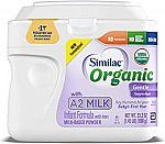 6-Pack 23.2oz Similac Organic A2 Infant Formula Powder $82.29 (50% Off)