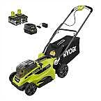 "RYOBI 16"" ONE+ 18V Li-Ion Cordless Battery Push Mower TWO 4.0Ah Batteries $259 and more"
