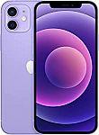 Apple iPhone 12 (128GB, Purple) [Locked] + 1-mo Cricket Wireless Unlimited Plan (w/ autorenewal) $934