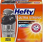 80-Count Hefty Ultra Strong Blackout 13 Gallon Trash/Garbage Bags $9.49