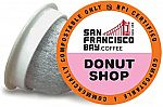 SF Bay Coffee 80 Ct Donut Shop Light Roast Compostable Coffee Pods  $24.15