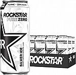 12 Can Rockstar Pure Zero Energy Drink, Silver Ice $10.81