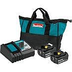Makita 18-Volt LXT Lithium-Ion 4.0 Ah Battery & Charger + Free Tool $184