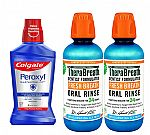 2-pack TheraBreath Fresh Breath (16oz) + Colgate Peroxyl Antiseptic Mouthwash $16
