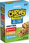 58-Count Quaker Chewy Granola Bars $9.09